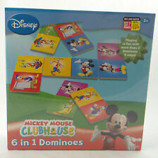 DISNEY MICKEY MOUSE CLUBHOUSE ~ 6 IN 1 DOMINOES ~ Family Game ~ 500545 ~ NEW