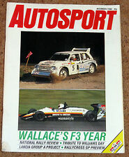 Autosport 4/12/86* F3 REVIEW - NATIONAL RALLY REVIEW - NEW Grp A LANCIA DELTA