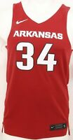 NEW Arkansas Razorbacks 34 Nike Team Mesh Maroon Basketball Jersey Men's S