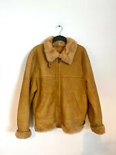 Vintage Aviator B3 Flight Pilot Air Force Leather Sheepskin Brown Bomber Jacket