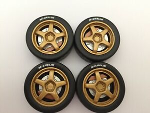 1/18 scale Modified Tuning Rally 5 spoke in gold(setY)
