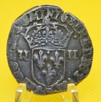 1/4 ECU, HENRY IV of France, 1604 T, SILVER coin, 28.0 mm