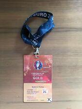 Los coleccionistas used VIP ticket #21 españa turquía Spain Turkey hospitality oro