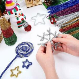 Plush Strip Pipe Cleaners Christmas Trees Decor For Sewing Weddings DIY Crafts