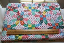 Genuine Vtg 1940's 1950's Cotton Cheater Fabric Quilt Back