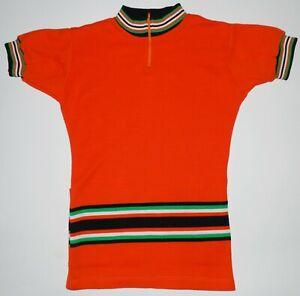 Cycling Vtg Jersey Shirt Wool Made in Yugoslavia Orange Ireland