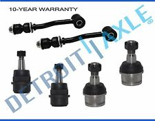 All (4) Front Lower & Upper Ball Joint & Sway Bar Links 1991-2001 Jeep Cherokee
