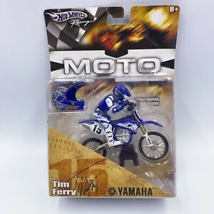 RARE Hot Wheels Racing Moto Tim Ferry 2005 Motocross Yamaha #15 Poseable Figure