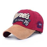 Mens Womens Baseball Cap Blank Plain Sports Visor  Golf ball Hat  Adjustable