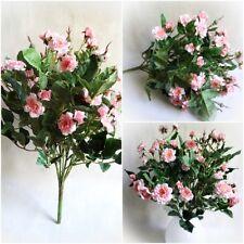 Rosen Strauß Rosenbusch 40cm rosa künstliche Blumen Blume Kunstblumen Kunstblume
