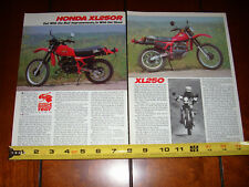 1982 HONDA XL250R - ORIGINAL ARTICLE XL 250
