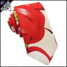 Red Apples Men's Skinny Tie