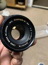Minolta MC Rokkor-X PF 1:2 50mm Lens