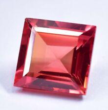 9.60 CT Natural AAA Grade Malaia Garnet Princess Cut Loose Gemstone Certified