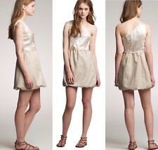 f92b2073bc1 J. Crew Collection Gold Metallic One-Shoulder Silk-Linen Dress