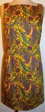 Ralph Lauren Stretch CottonSheath Dress Yellow Multi-Color Paisley Floral 6 S