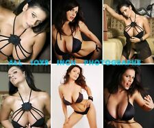 Denise Milani - All 10x8 inch Photo's #m085 in Black Lingerie & Bra and Pants