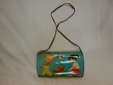 VINTAGE IN TOY PLATE BLECH CHILD LUNCH BOX - W19.5cm - GOOD CONDITION