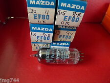 Ef80 MAZDA UK new old stock Valve Tube 1pc sortie J15
