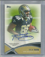 (3) NICK TOON RC AUTO LOT 2012 TOPPS SAINTS BADGERS