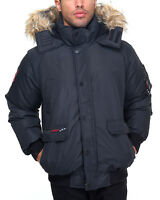 Men's Canada Weather Gear Heavy Weight Bomber Long Coat Black Size 2X-Large New!