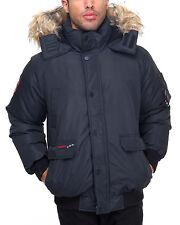 Men's Canada Weather Gear Heavy Weight Bomber Long Coat Black Size Medium New!