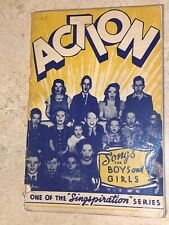 Action Songs for Boys and Girls First Volume Singspiration Series 1944