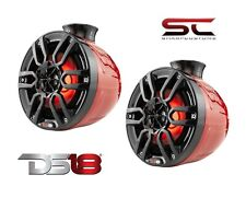 """Pair of DS18 NXL-PS8R HYDRO 8"""" 750W 4 Ohm Wakeboard Pod Tower Speakers"""