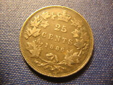 1886 VF XF Canada Silver Twenty Five Cents  CAL