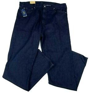 POLO Ralph Lauren Prospect Straight Jeans Mens Blue Stretch 42T x 38 NEW $98.50
