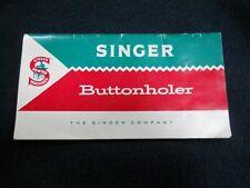 New listing Vintage 1960 Singer Buttonholer Manual