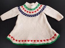 VINTAGE, 1950's HAND KNIT BABY DRESS ~ COLLECTOR, REBORN DOLLS - UNIQUE DESIGN