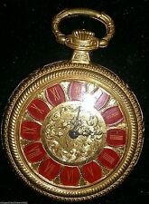 Swiss SEEGA Antique Vintage Pendant Swiss Pocket Watch 1930s Roman numerals