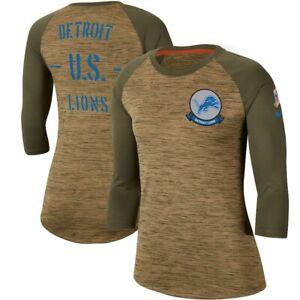 Detroit Lions Nike Womens 2019 Salute to Service Legend 3/4 Sleeve Shirt NFL $45