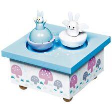 trousselier Musikspieldose tanzende Hasen Spieluhr blau - Eine kleine Nachtmusik