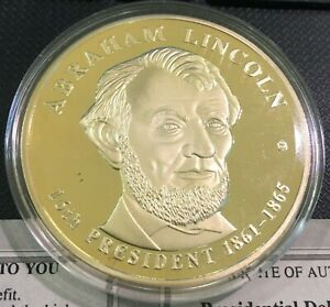 ABRAHAM LINCOLN DOLLAR TRIAL COIN PROOF AMERICAN MINT ORIGINAL RETAIL $99.95