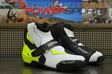 Alpinestars SMX-1R Motorcycle Street Shoe Boot Black/White/Yellow SIZE EU 43/US9