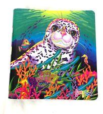 Lisa Frank Rainbow Reef Seal 3 Ring Binder Notebook Vintage 90s School