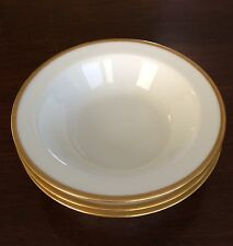 Haviland Limoges Sch. 20 Pattern: Donhoff Gold Trim Set of 3 Rim Cereal Bowls