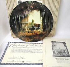Spring Buggy~ Maurice Harvey Collector Plate ~Country Nostalgia Series~New~Mib