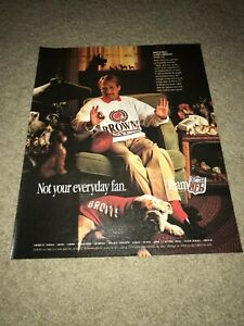 Vintage 1990 MARTIN MOLL TEAM NFL Poster Print Ad CLEVELAND BROWNS SWEATHSHIRT