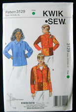 KwikSew Pattern #3129 Misses Straight Jacket Panel Seams Size (XS-S-M-L-XL)
