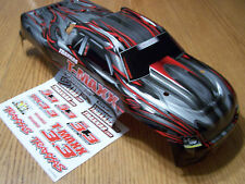 NEW Traxxas 4907 3.3 T-Maxx Silver Red Black Painted Body w/ Decal Cover 49077-3