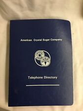 American Crystal Sugar Beet vintage agriculture Company Wide Telephone Book