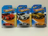 Hot Wheels 2012 Lamborghini Lot Of (3) Factory Sealed Free Shipping,