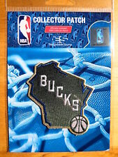 "Official NBA Milwaukee Bucks Alternate Logo Iron or Sew On Patch Sm 2 3/4"" by 3"""
