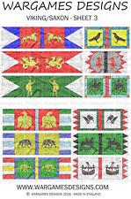 15mm Dark Ages Viking/Saxon Banners - Sheet 3 FOG, DBA, Hail Caesar, Impetus