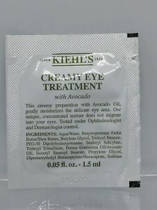 New Kiehls Creamy Eye Treatment with Avocado -0.05oz/1.5ml Authentic Fresh 2021