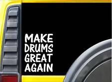 Make Drums Great Again L202 8 inch Sticker drum kit decal
