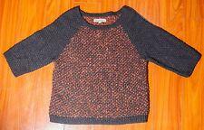 Ann Taylor LOFT Women's Wool Blend Knit Sweater 3/4 Sleeve Size Medium